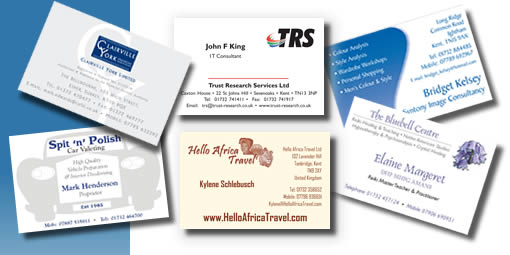 Silver pines services business cards printing sevenoaks kent business cards designed and printed reheart Gallery